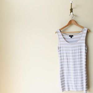 Brown and White Striped Tank Top/Dress